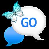 GO SMS - Blue Plaid Sky