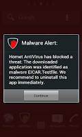 Screenshot of Hornet AntiVirus Free