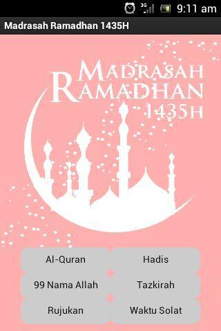 Madrasah Ramadhan 1435H