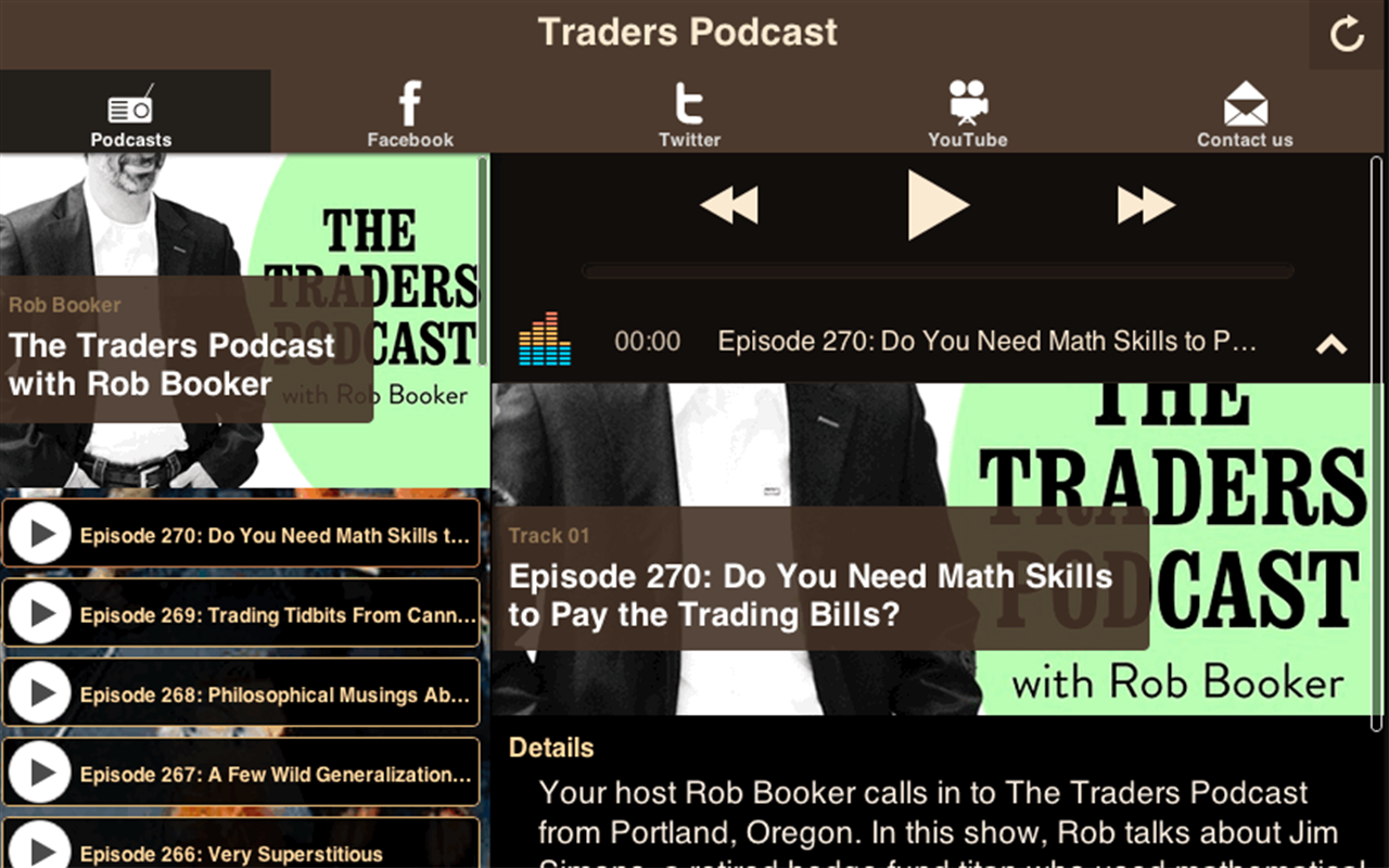 Traders Podcast- screenshot
