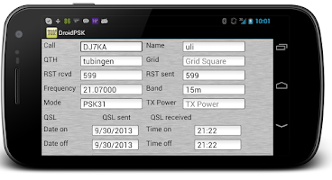 Screenshot of DroidPSK - PSK for Ham Radio