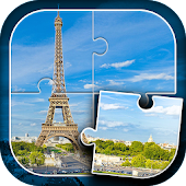 APK Game Eiffel Tower Jigsaw Puzzle for BB, BlackBerry