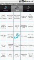 Screenshot of Engadget Podcast Bingo!