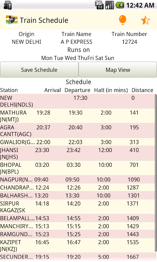 Indian Rail IRCTC PNR - Disha - screenshot
