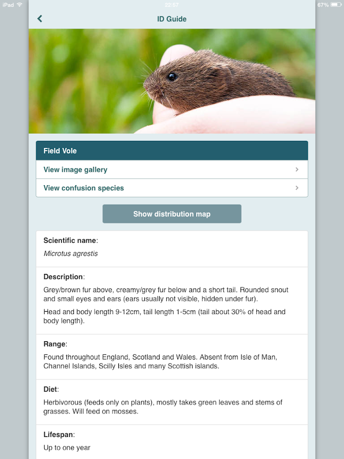 Mammal Tracker- screenshot
