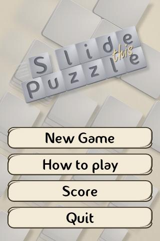 Slide This Puzzle FREE - screenshot