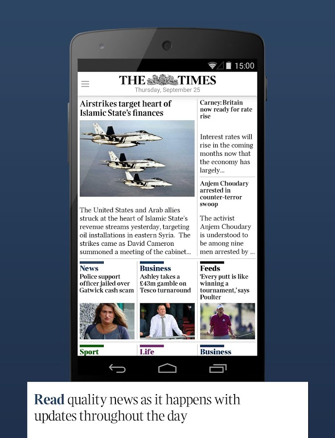 The Times & The Sunday Times - screenshot