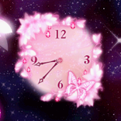 Fantasy Clock★Pink Butterfly