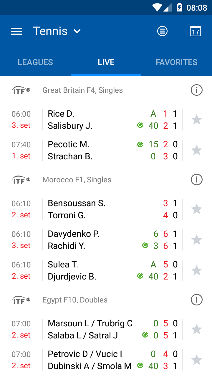 LiveScore results - SofaScore screenshot #12