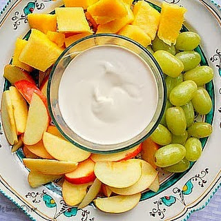 An Easy Delicious Fruit Dip For Your Holiday Parties.