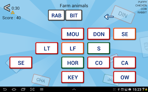 Word Domino Free letter games