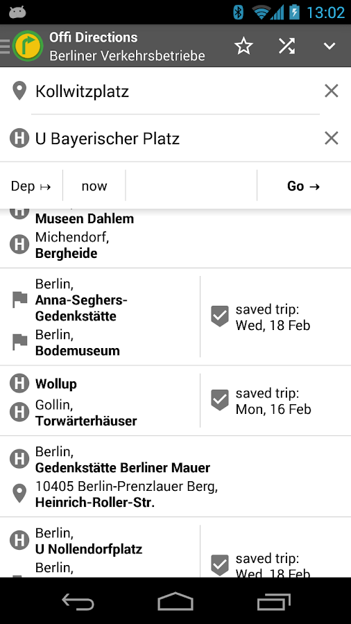 Offi - Journey Planner- screenshot
