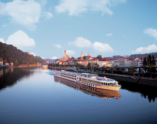 Viking-Spirit - Viking Spirit on a voyage in Europe. One popular itinerary is a 15-day river cruise from Paris through the Seine to historic beaches in Normandy and back.