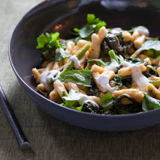 Broccoli Rabe & Cavatelli Pasta with Harissa & Yogurt.