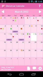 Menstrual Calendar Premium screenshot for Android