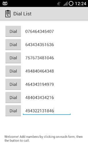 Dial List