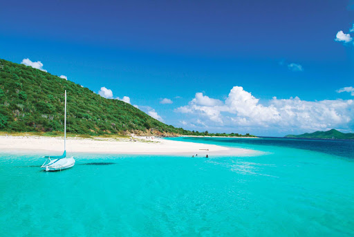 buck-island-big-beard-st-croix-US-Virgin-Islands - Family time on St. Croix can include a sailing and snorkeling trip to Buck Island with Big Beard's Adventure.