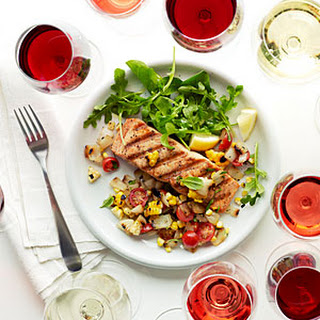 Wild Salmon with Grilled Sweet Onion and Corn Relish Recipe