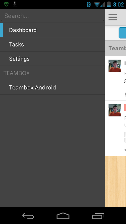 Teambox - screenshot