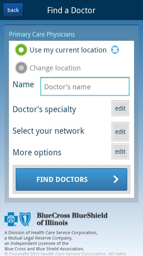 Find Doctors - Illinois - screenshot