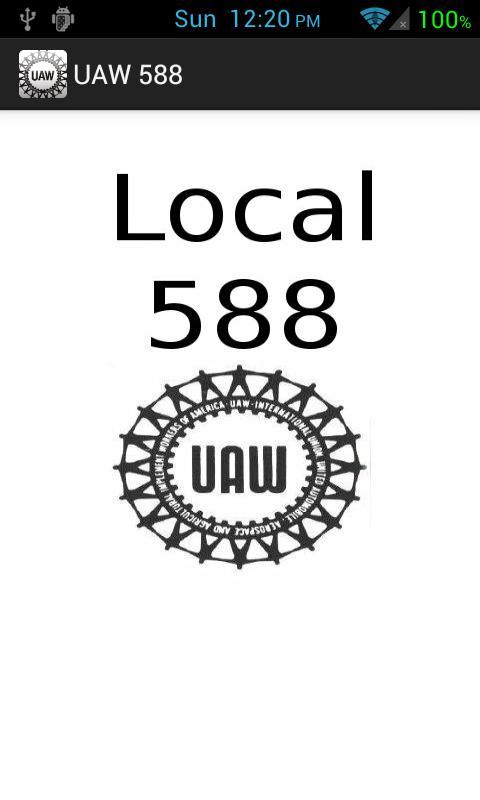 UAW Local 588 - screenshot