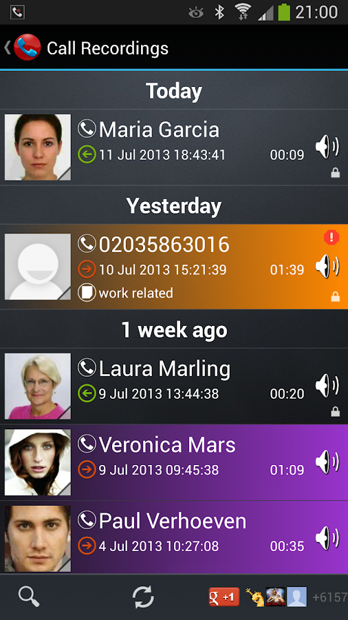 Galaxy Call Recorder - screenshot