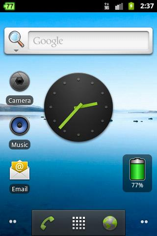 Aura Battery Indicator/Widget - screenshot