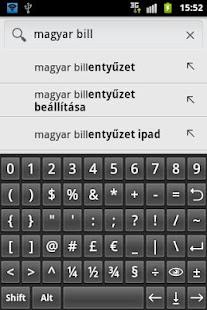 Könnyű magyar billentyűzet - screenshot thumbnail