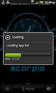 SCORPIO - Neon Blue Clock - screenshot thumbnail