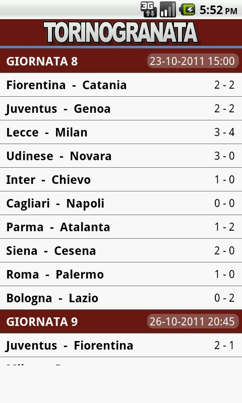 Torino Granata - screenshot