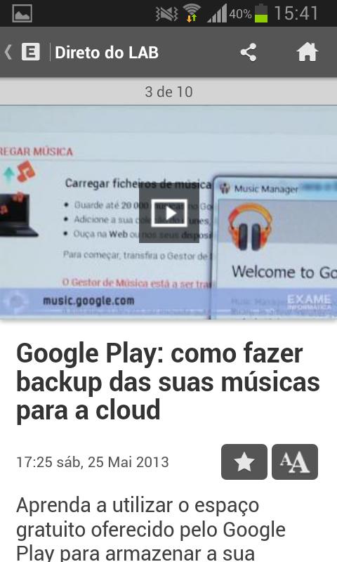 Exame Informática Online - screenshot