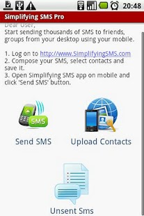Simplifying SMS Pro - screenshot thumbnail