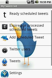 MyTweetDroid- screenshot thumbnail