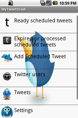 MyTweetDroid- screenshot