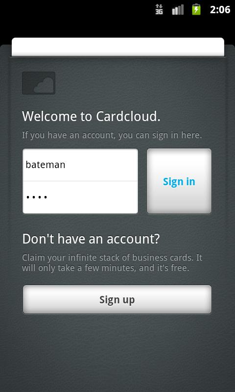 Cardcloud - screenshot