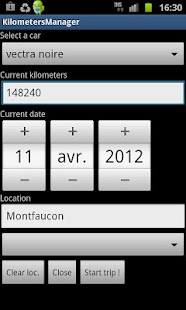 Kilometer Manager - screenshot thumbnail
