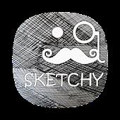SKETCHY ICONS APEX/NOVA/ADW/GO