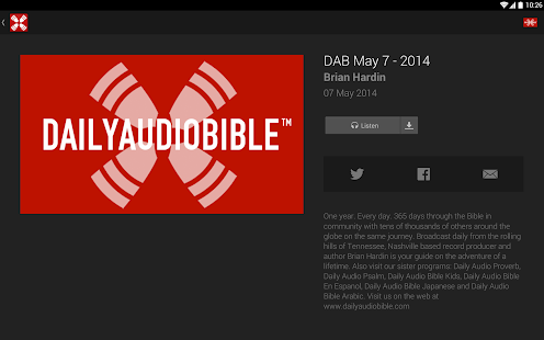 Daily Audio Bible- screenshot thumbnail