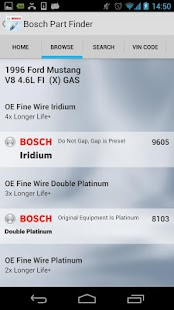 Bosch NA Vehicle Part Finder- screenshot thumbnail