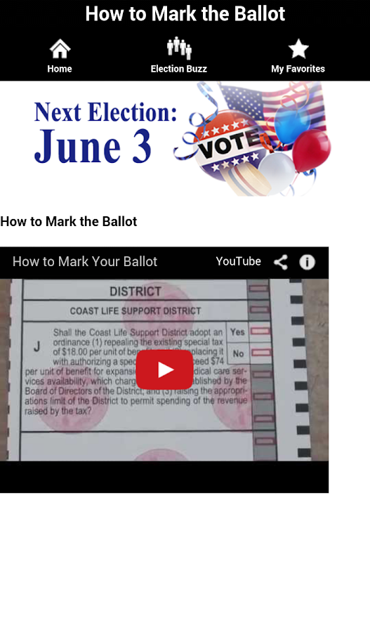 Sonoma County Elections- screenshot