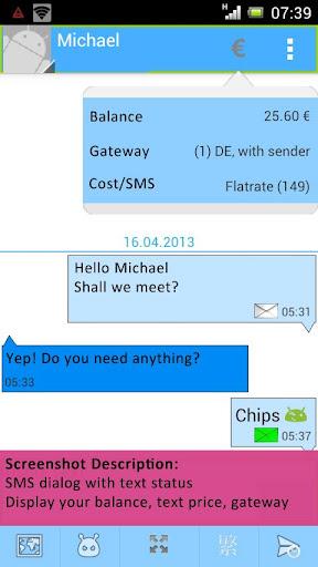 smsflatrate.net Text App