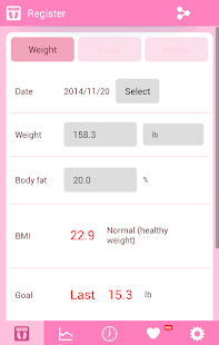 Easy Weight Manager- screenshot thumbnail