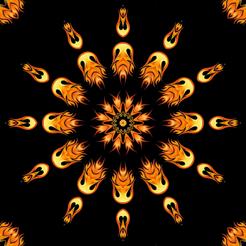 Wheel flames 12 by Dominic Jacob - Illustration Abstract & Patterns ( abstract, flames, wheel, abstract art, digital art, digital, flame,  )