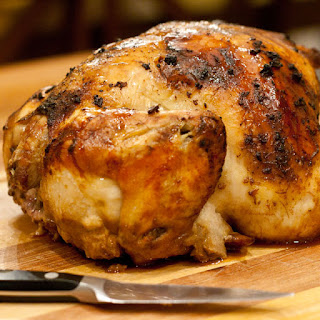 Whole Roasted Ginger Soy Chicken.