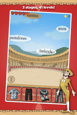 Learn Spanish Vocab Game Pro - screenshot