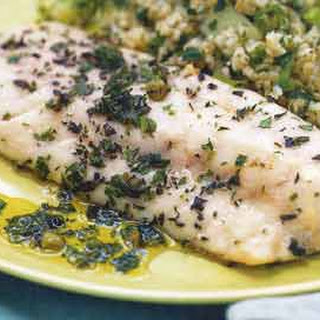 Herb-Roasted Sea Bass with Salsa Verde.