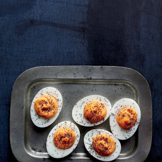 Spicy Deviled Eggs.