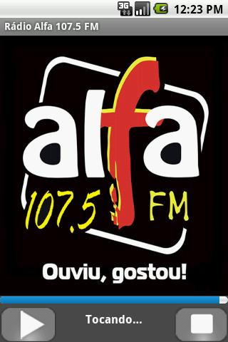 Rádio Alfa 107.5 FM - screenshot