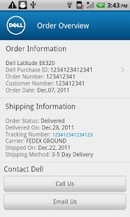 Dell Premier Order Status - screenshot thumbnail