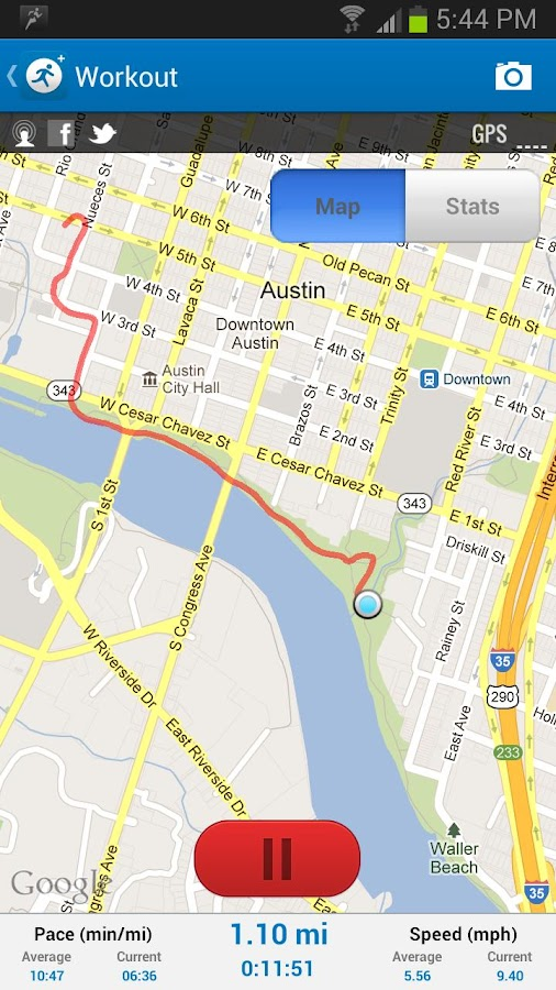 MapMyRun GPS Running - screenshot
